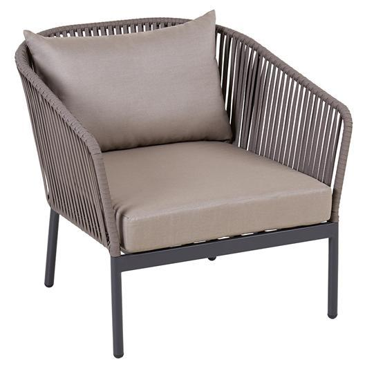 Lounge Armchair Spaghetti Alu/Anthr W/Cushion S+1