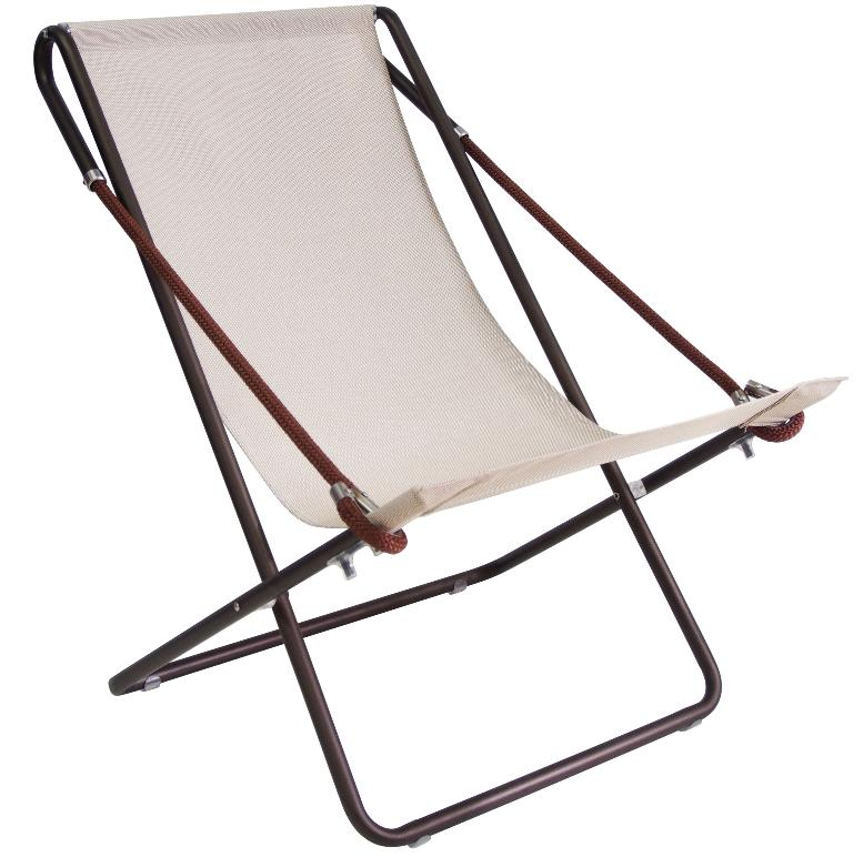 Deck Chair Vetta Met/Indian Brown Text/Hazel