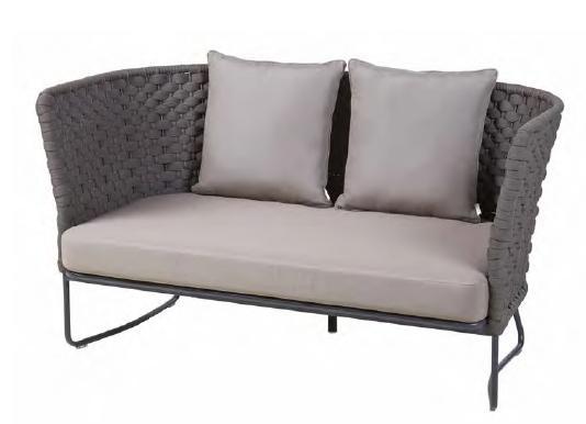 2seater Sofa Tender Alu Anthr W Seat Cushion Dryf 2pill Std