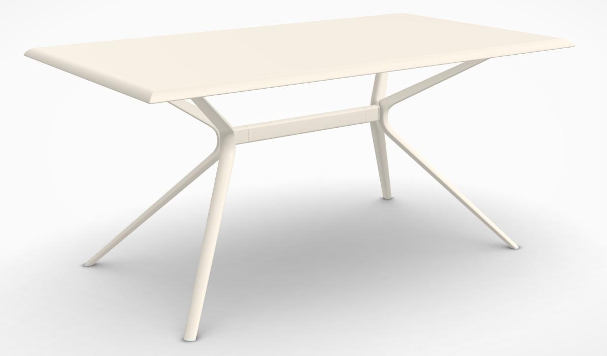 Table Moai 90X160 Alu/Creamy White