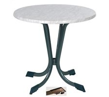 Table Werz Ø80cm Met Ant Mar/W