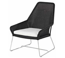 Armchair Darling Point Stain/St W/Black